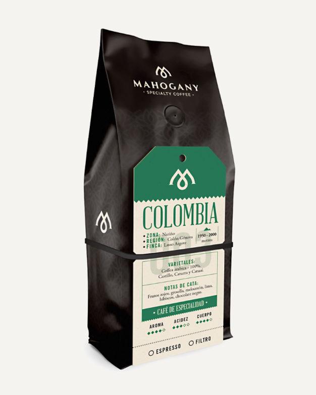 Paquete de café de especialidad de Colombia
