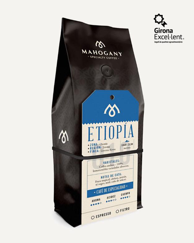 Paquete de café de especialidad de Etiopía