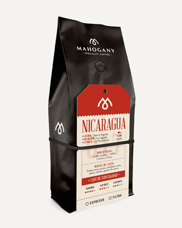 Paquete de café de especialidad de Nicaragua
