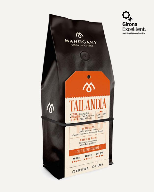 Paquete de café de especialidad de Tailandia