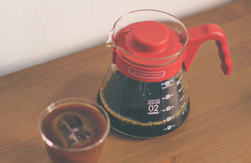 Cafetera V60 Hario con café de especialidad de filtro